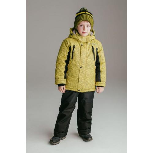 "Зимний костюм UKI kids ""ШТОРМ"" жёлтый принт"
