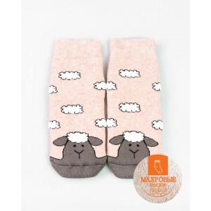 """Детские махровые носки MF """"Овечка"""" розовый меланж"""