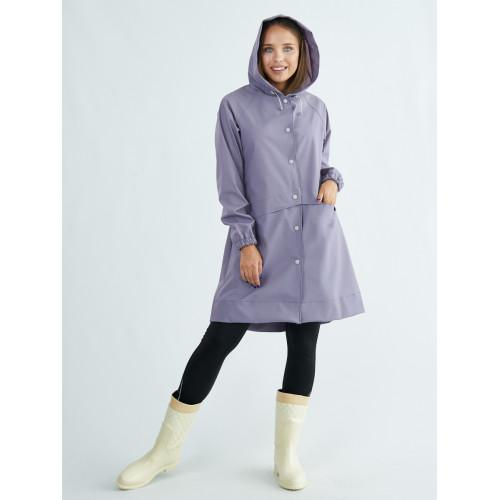 Непромокаемый плащ дождевик женский лаванда TIMSONS