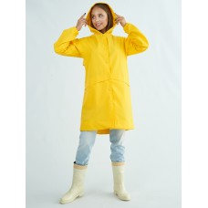 Непромокаемый плащ дождевик женский жёлтый TIMSONS
