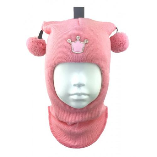 """Зимний шлем Бизи """"Принцесса"""" Розовая пудра"""