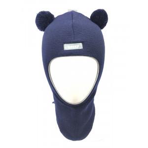 "Зимний шлем Бизи ""Мишка"" тёмно-синий"