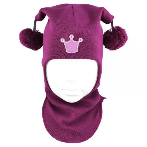 """Зимний шлем Бизи """"Принцесса"""" Фуксия"""