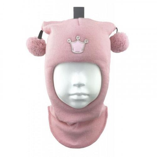 """Зимний шлем Бизи """"Принцесса"""" Розовый"""