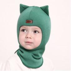 """Зимний шлем БИЗИ """"Кошка"""" мята"""