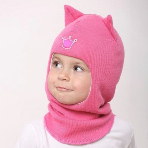"Зимний шлем BEEZY ""Кошка"" Ярко-розовый"