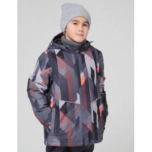 Зимняя куртка для мальчика CROCKID удлинённая СЕРАЯ