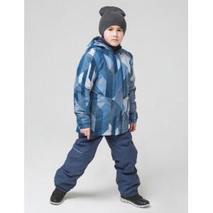 Зимняя куртка для мальчика CROCKID удлинённая СИНЯЯ