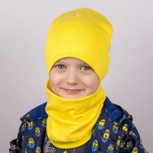 Шапка БИНИ + снуд (комплект) жёлтый