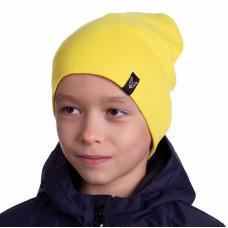 Шапка БИНИ двухслойная + снуд (комплект) жёлтый