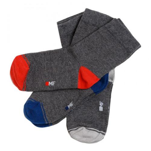 Детские носки  для мальчика (набор 3 пары) серый меланж