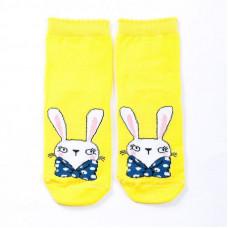 """Детские носки """"Кролики"""" лимонный"""