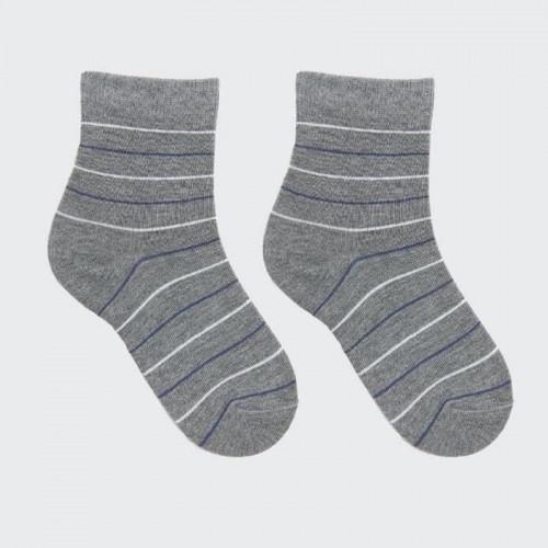 "Детские носки Mark Formelle ""Полоска"" серый меланж"
