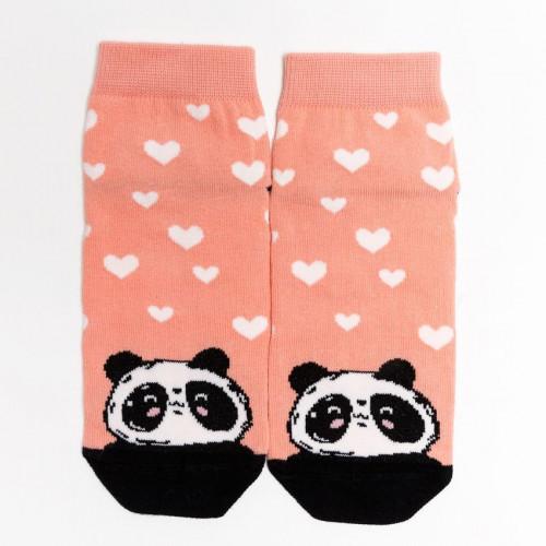 """Детские носки """"Панда"""" лососевый"""