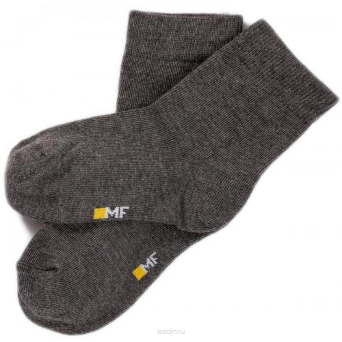 """Детские носки """"Однотонные"""" тёмно-серый меланж"""