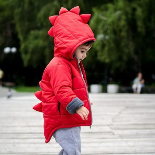Дино-Куртка демисезонная Красная
