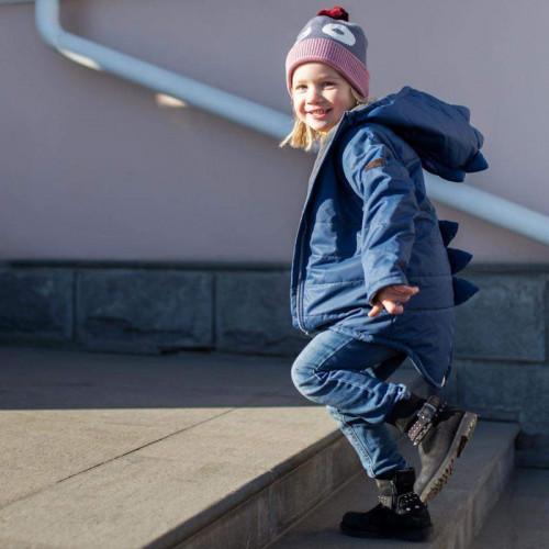 Дино-куртка демисезонная MiniDino цвет джинс