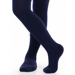Детские термоколготки для девочек NORVEG серии SOFT MERINO WOOL тёмно-синие