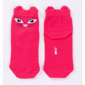 "Детские носки ""Кошечки"" малиновый"