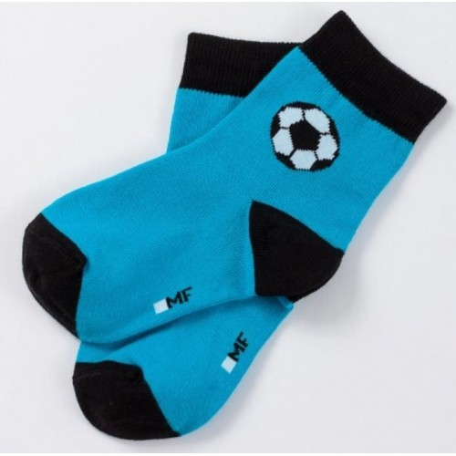 "Детские носки ""Футбол"" бирюзовый"