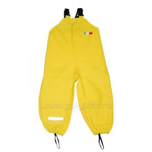 Непромокаемый полукомбинезон ТИМ жёлтый