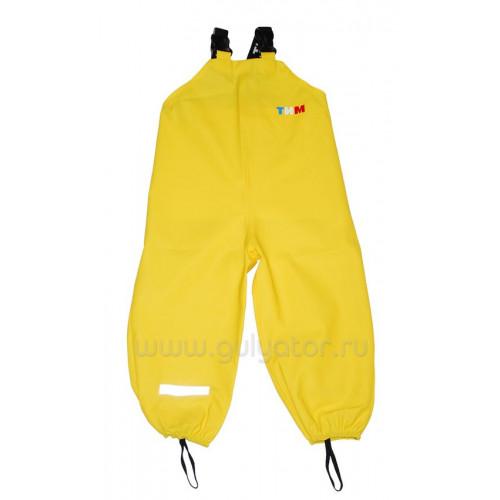 Непромокаемая одежда полукомбинезон ТИМ жёлтый