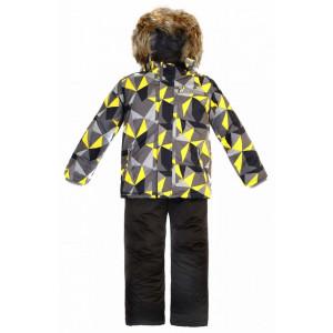 """Зимний костюм для мальчика Reike """"Треугольники"""" серый"""