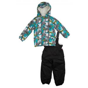 "Зимний костюм для мальчика Reike ""Монстрик"" серый"