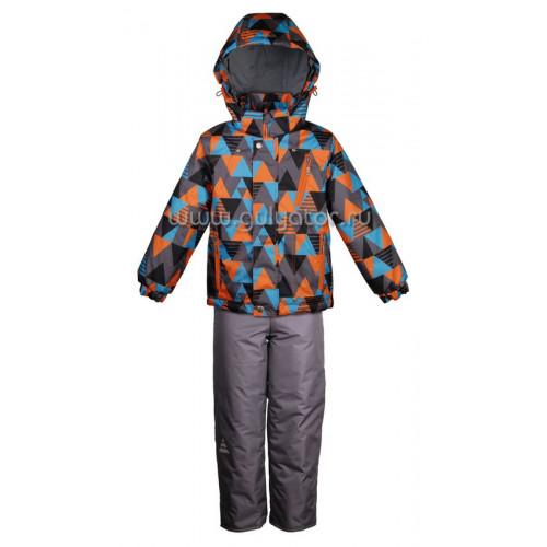 "Демисезонный костюм UKI kids ""Зигзаг"" оранжевый"