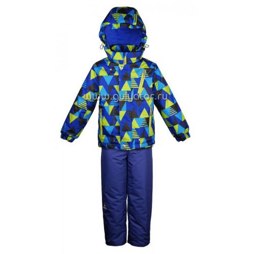 """Демисезонный костюм UKI kids """"Зигзаг"""" синий"""