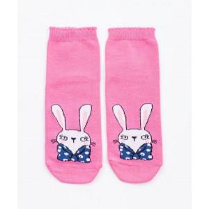 """Детские носки """"Кролики"""" розовый"""