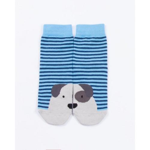 """Детские носки """"Пёс"""" бирюзовый"""