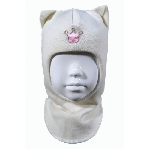 "Зимний шлем Бизи ""Кошка"" Белоснежный"
