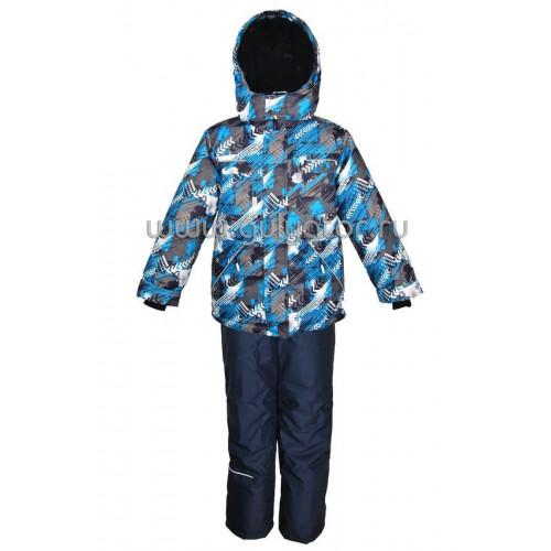 """Зимний костюм для мальчика UKI kids """"ТАЙФУН"""" синий"""