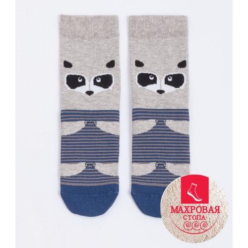 """Детские носки MF """"Енотик"""" светло-серый меланж"""
