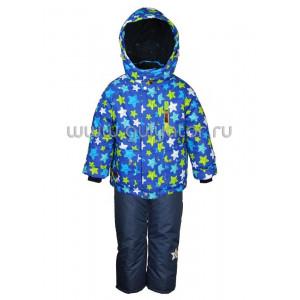 """Зимний костюм для мальчика UKI kids """"ЗВЁЗДОЧКИ"""" синий"""