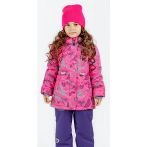 """Демисезонный костюм UKI kids """"КРУЖЕВА"""" розовый"""