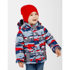 Куртка UKI kids РЫБКИ серо-красный