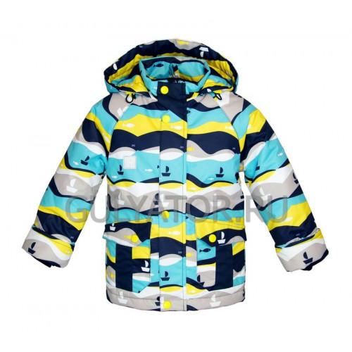 Куртка UKI kids РЫБКИ сине-жёлтый