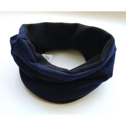 Снуд-труба двухсторонний с флисом синий