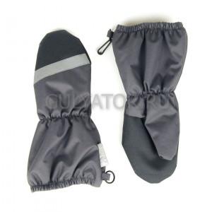 Мембранные рукавицы на флисе UKI Kids серые