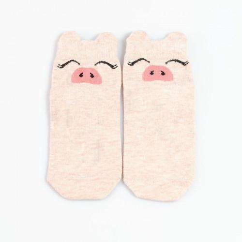 """Детские носки """"Хрю-хрю"""" розовый меланж"""