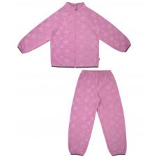Флисовый костюм для девочки Reike розовый