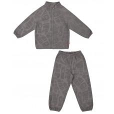 Флисовый костюм для мальчика Reike серый