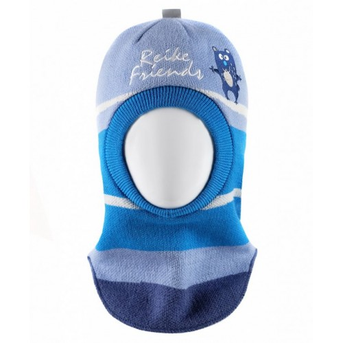 """Шапка-шлем Reike """"Весёлые друзья"""" синий"""