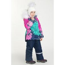 """Зимний костюм Stella kids """"Пион"""" розовый принт"""