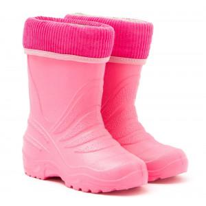 Детские резиновые сапоги с утеплителем TINGO РОЗОВЫЕ