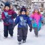 """Зимние рукавицы """"Снежок"""" UKI Kids тёмно-синие"""