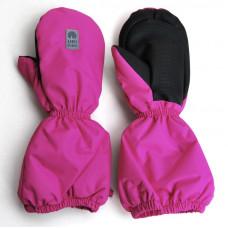 "Зимние рукавицы ""Снежок"" UKI Kids ярко-розовые"