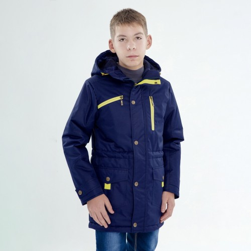 Демисезонная куртка (парка) UKI kids АЛЕКСАНДР синяя